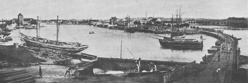 model af skib fra gamle dage